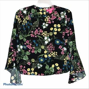 Catherine Lovely Bright Floral Blouse Sz M